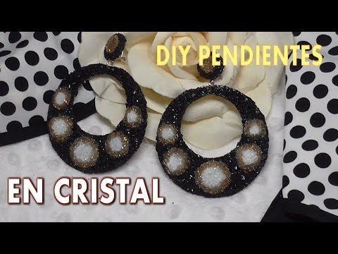 DIY PENDIENTES DE FLAMENCA EN CRISTAL - YouTube