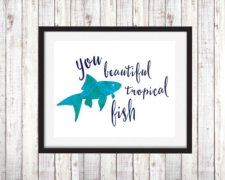 Beautiful tropical fish, Leslie knope quote by MegMelDesigns on Etsy