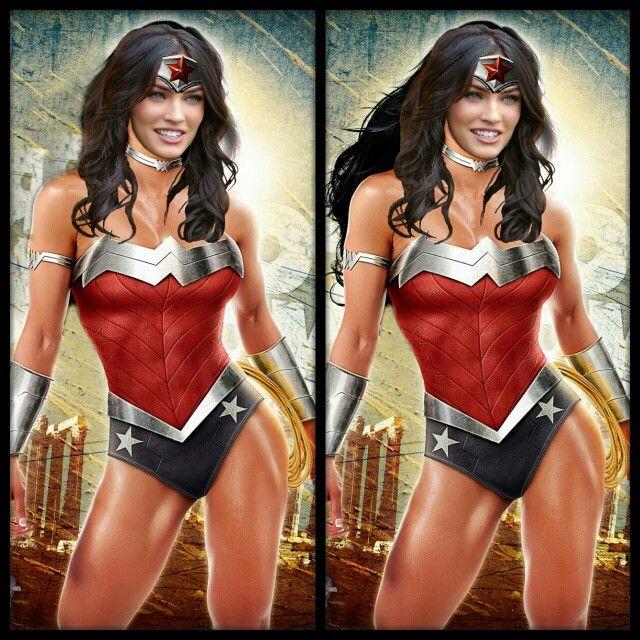 Wonder woman is Megan Fox hair