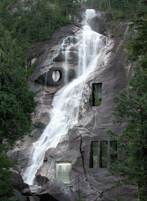 Amazing Waterfall House