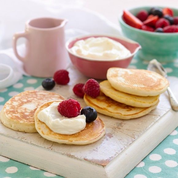 Collect this Mini Pikelets with Berries & Yoghurt recipe by Western Star. MYFOODBOOK.COM.AU | MAKE FREE COOKBOOKS