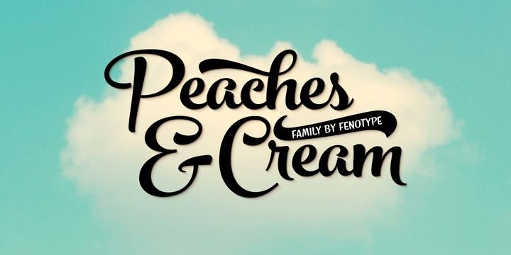 Peaches And Cream (HOT font) - http://fontsdiscounts.com/peaches-cream-hot-font/