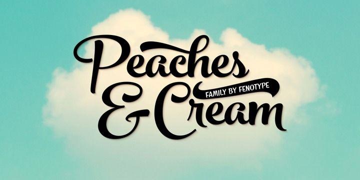 Peaches And Cream (HOT font) - http://fontsdiscounts.com/peaches-cream-hot-font/
