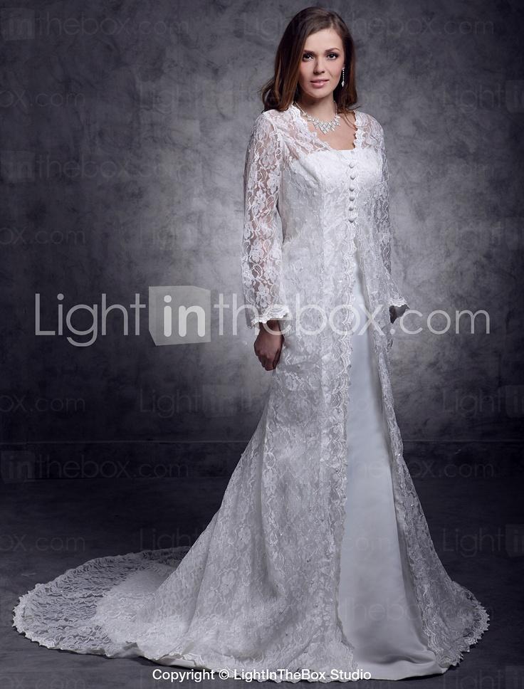 Long Lace Jacket Dress - My Jacket
