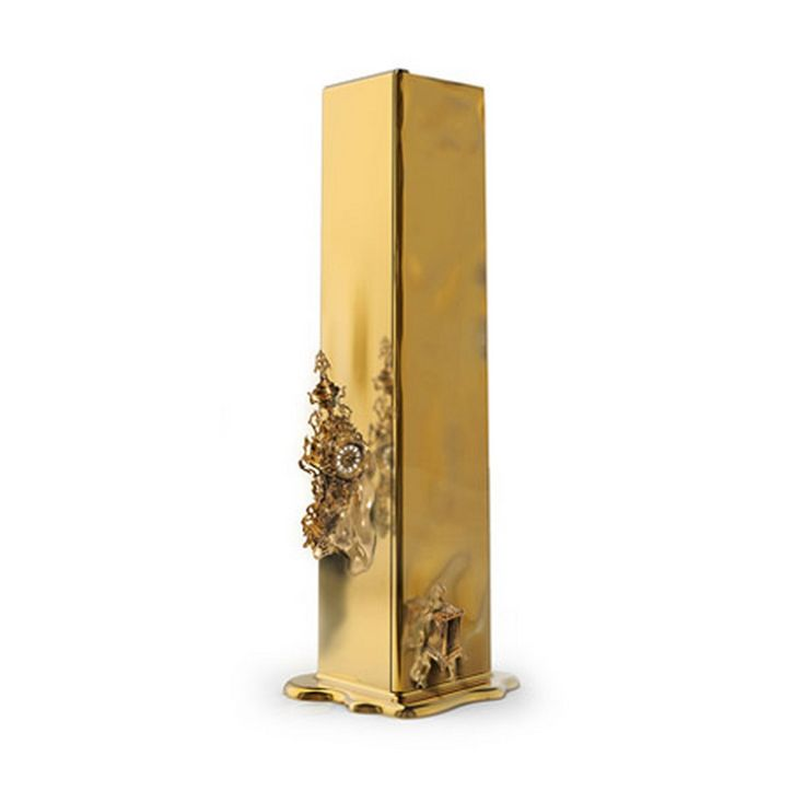 """""""DALI LUXURY SAFE   Inspired by the great surrealist movement, the Dalí luxury safe represents the importance of reliability and certainty.   www.bocadolobo.com #bocadolobo #luxuryfurniture #exclusivedesign #interiodesign #designideas #homeofficeideas #luxurysafes #salvadordali #gold #polishedbrass #whatchwinder"""