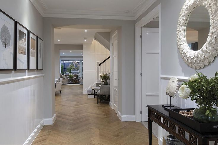 Grand entrance on the Brookwater display with a Classic Hamptons World of Style.