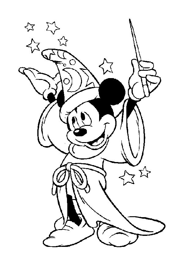 sorcerer mickey mouse coloring pages   Sorcerer Mickey Mouse Coloring Pages Coloring Pages