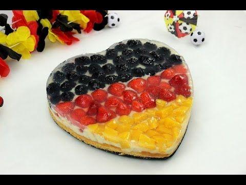 *Fußball-WM 2014* WM-Obstkuchen / Deutschland Flagge als Kuchen