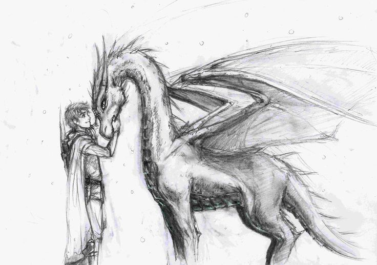 Finally, an wonderful picture of Eragon and Saphira! She is probably relatively young in this picture though.