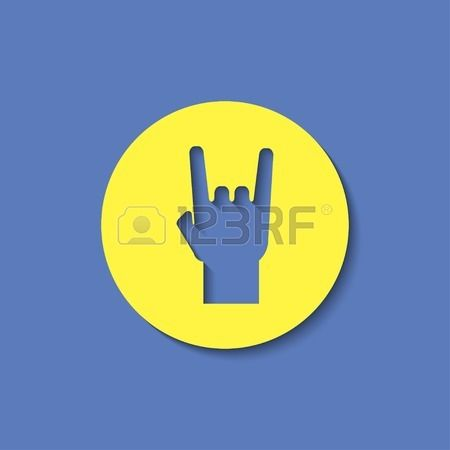 rock hand sign icon Stock Vector