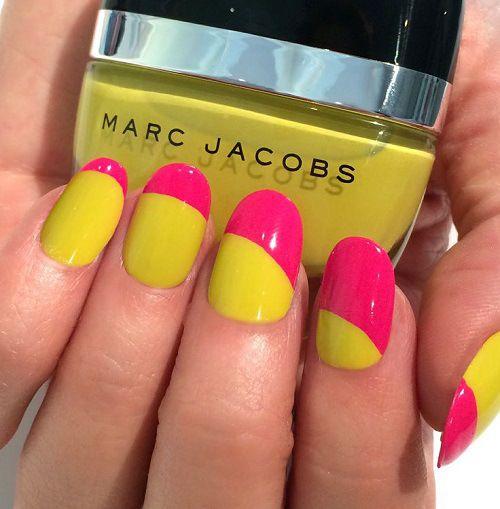 Uñas amarillas y rosa - Yellow Nails and pink