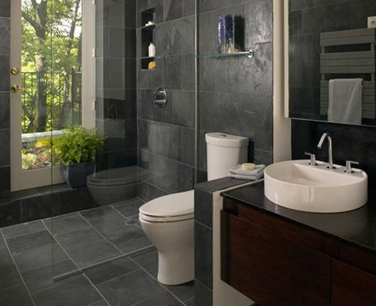 136 best Bathroom Ideas images on Pinterest   Bathroom  Half     Bathroom   Small Bathroom Ideas Tile With Natural Stone Theme Small  Bathroom Ideas Tile Bathroom Remodeling Ideas    Small Bathroom Design    Hgtv  Bathrooms as