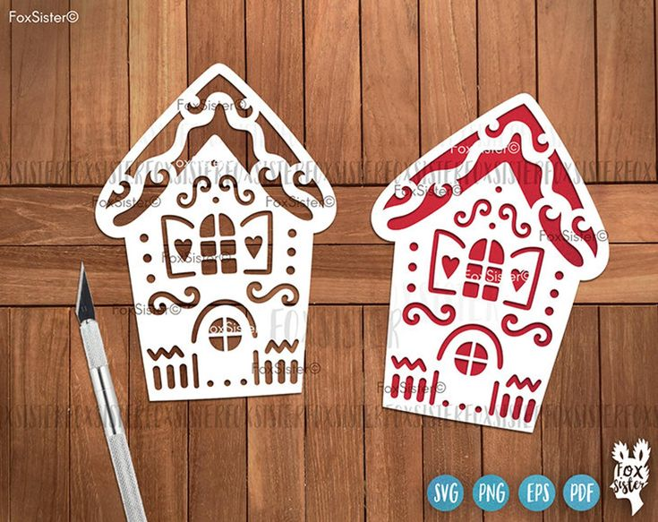 Gingerbread House Svg Bundle, Christmas Village Svg, House