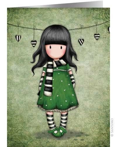 Gorjuss Cards - The scarf