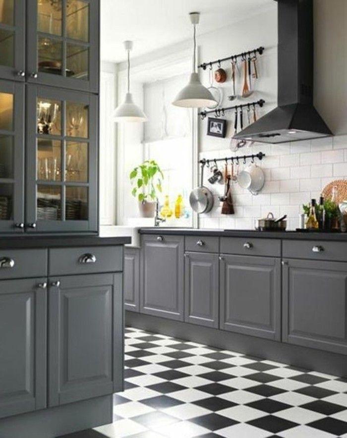 le carrelage damier noir et blanc en 78 photos - Carrelage Cuisine Damier Noir Et Blanc