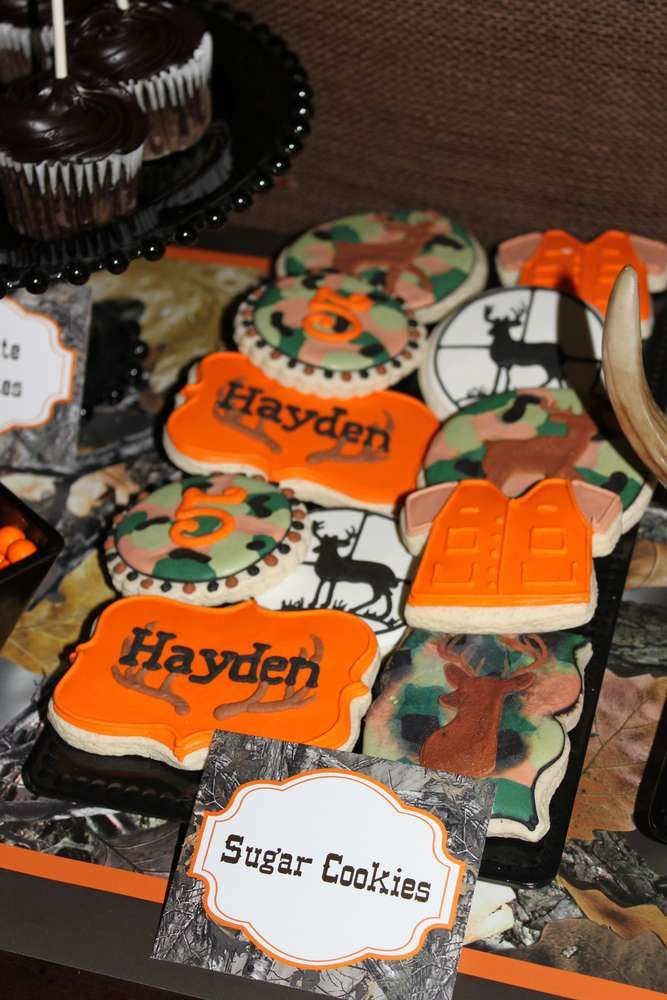 Camo deer Hunting Birthday Party Ideas | Photo 2 of 20