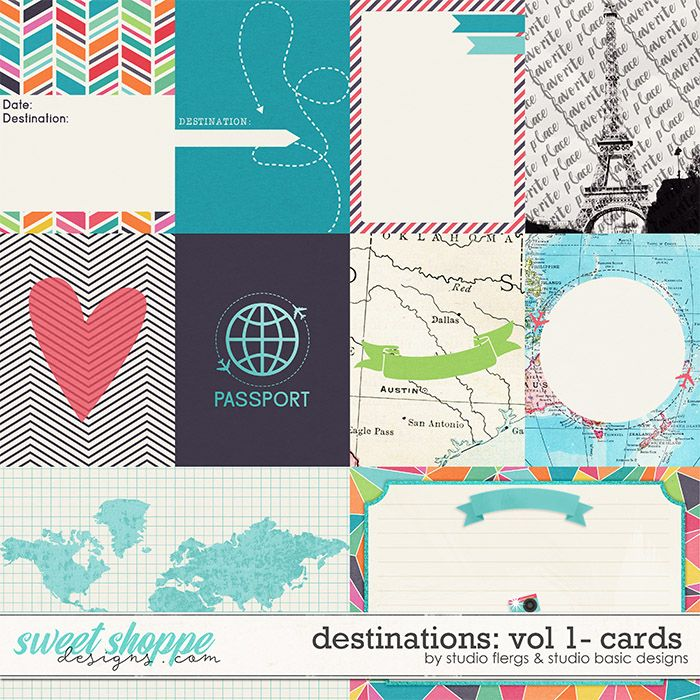 Destinations: Vol 1 - Cards by Studio Basic and Studio Flergs