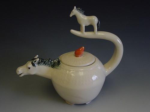 horse teapot