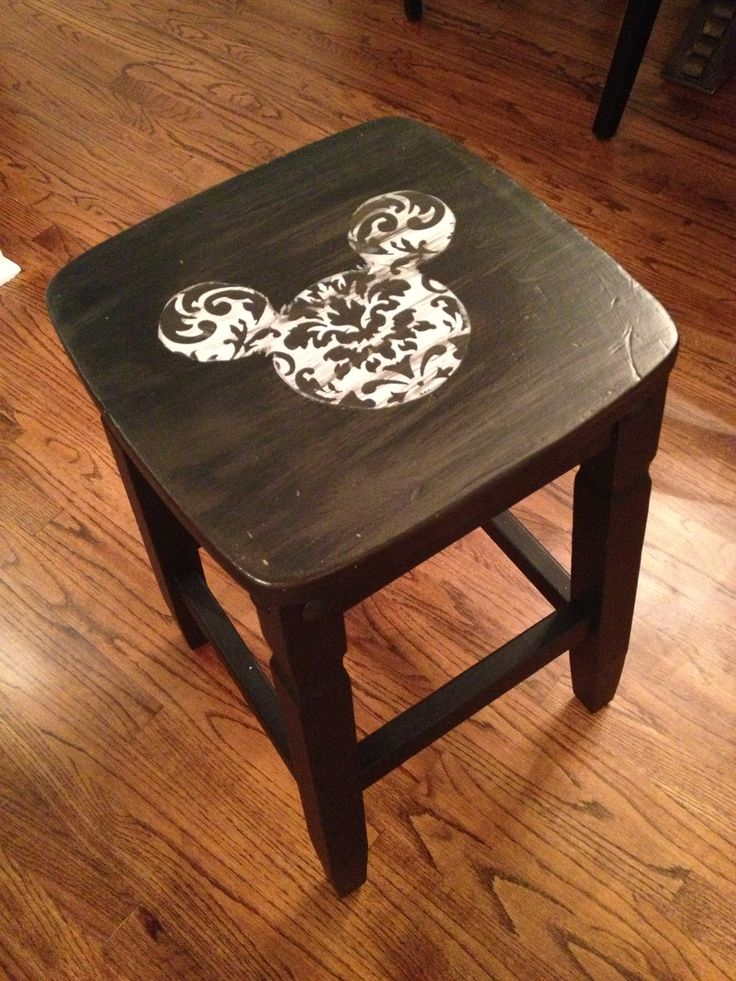 1000 ideas about disney furniture on pinterest farmhouse bookcases minnie mouse bedding and - Mickey mouse stool ...