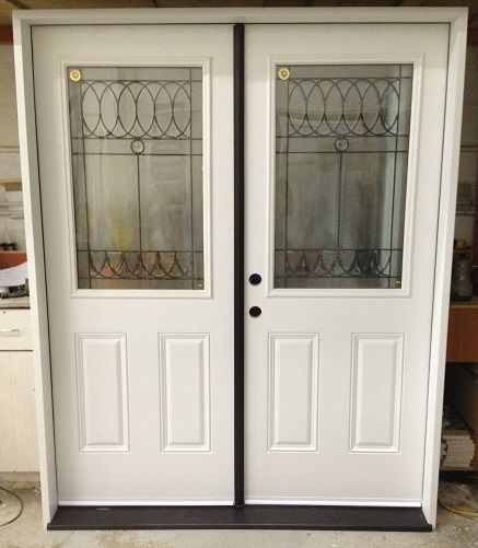 Virginia Double Entrance Doors w/ Anodized Bronze Astragal and Treshold