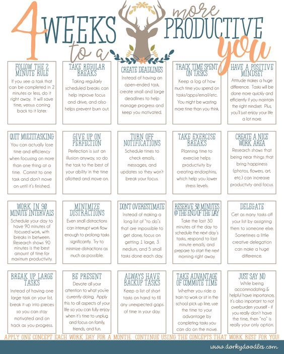 Free Printable: 4 Weeks to a More Productive You