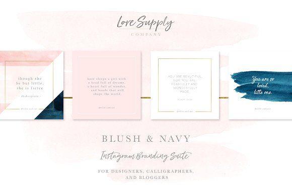 Blush & Navy Social Media Pack by Love Supply Company