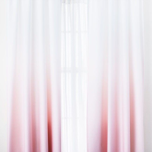 Pink Ombre Window Panel Set of 2 ($49) ❤ liked on Polyvore featuring home, home decor, window treatments, curtains, window curtains, rod pocket curtains, ombre curtains, pink curtains and cotton curtain panels