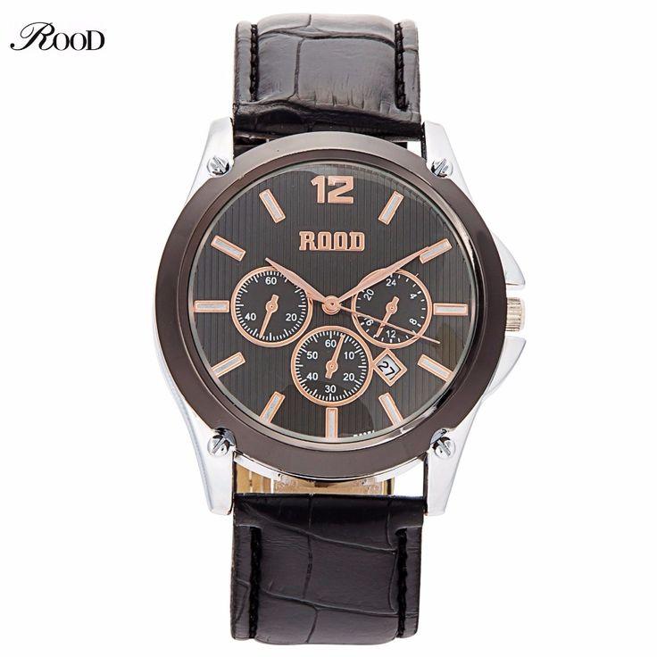 $12.62 (Buy here: https://alitems.com/g/1e8d114494ebda23ff8b16525dc3e8/?i=5&ulp=https%3A%2F%2Fwww.aliexpress.com%2Fitem%2FRelogio-Masculino-2016-men-Military-Watches-casual-quartz-watch-ROOD-Brand-Luxury-Leather-fashion-wristwatches-relojes%2F32694189960.html ) Relogio Masculino 2016 men Military Watches casual quartz watch ROOD Brand Luxury Leather fashion wristwatches relojes hombre for just $12.62
