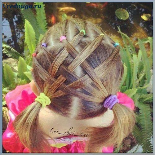 Колоски и косы - прически для девочек. #little #girl #hairstyle