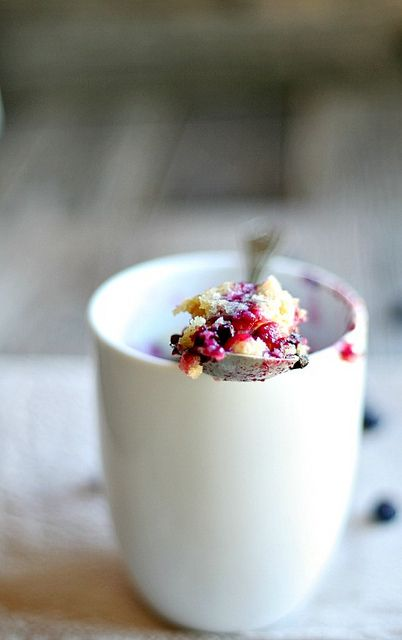 Single Serving Blueberry Muffin in a mug by Heather's French Press, via Flickr