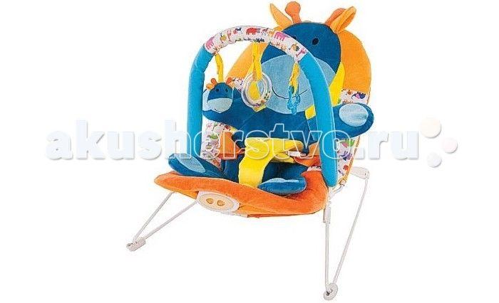 Жирафики Детское кресло-качалка Жирафик  Жирафики Детское кресло-качалка Жирафик с 3-мя развивающими игрушками, вибрацией и музыкой создан для младенцев. Этот замечательный шезлонг родители малыша оценят по достоинству, а ребенку в нем будет комфортно и интересно.  Изделие выполнено из высококачественного материала, безопасного для ребенка. Качалка имеет анатомическое кресло, в котором малыш находится в положении полулежа, что безвредно для неокрепшего позвоночника карапуза.  Кроме того…