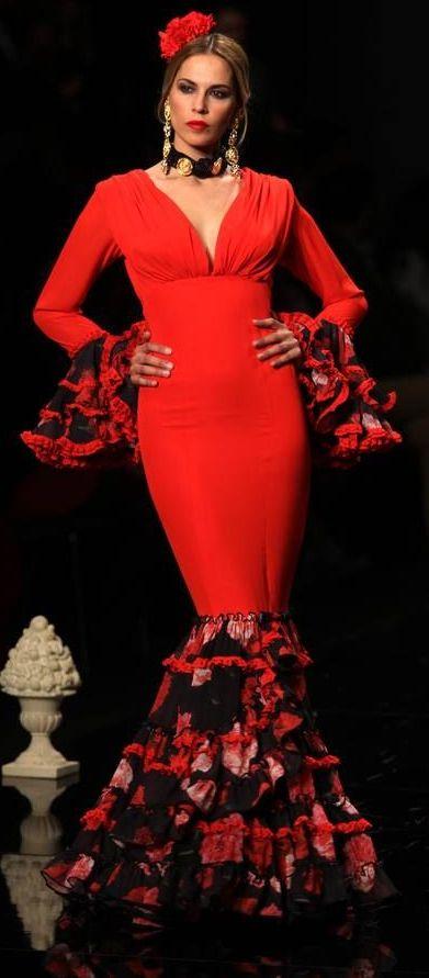 Flamenco style cocktail dress