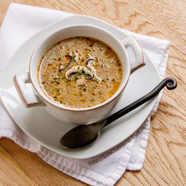 Homemade Vegetarian Mushroom Soup from Life Currents