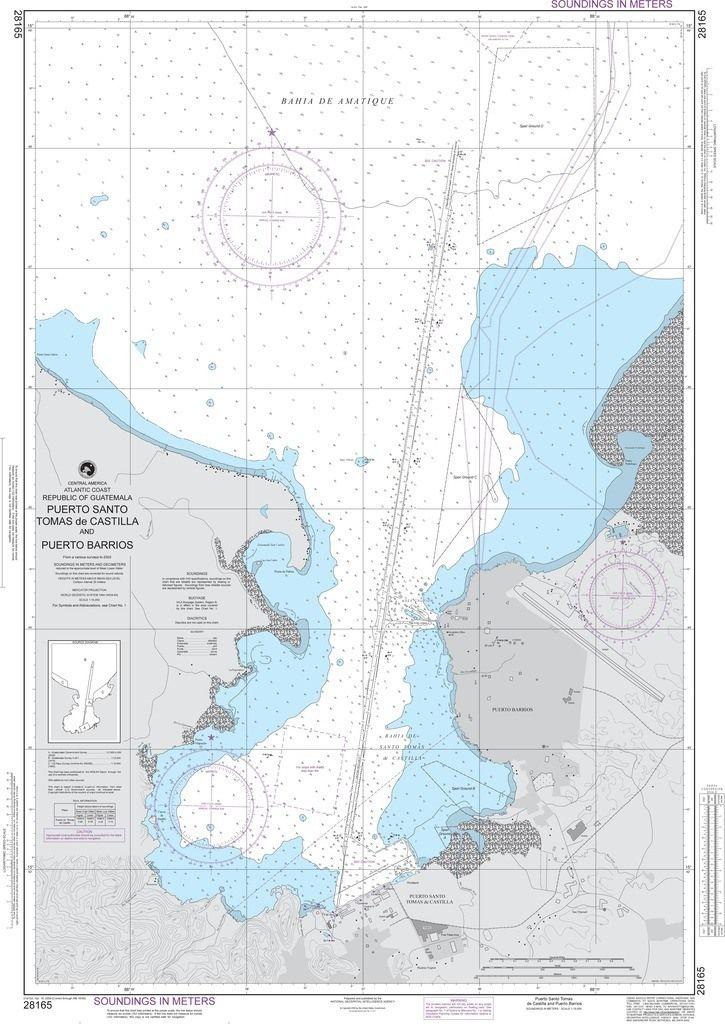 NGA Chart 28165: Puerto Santo Tomas de Castilla and Puerto Barrios