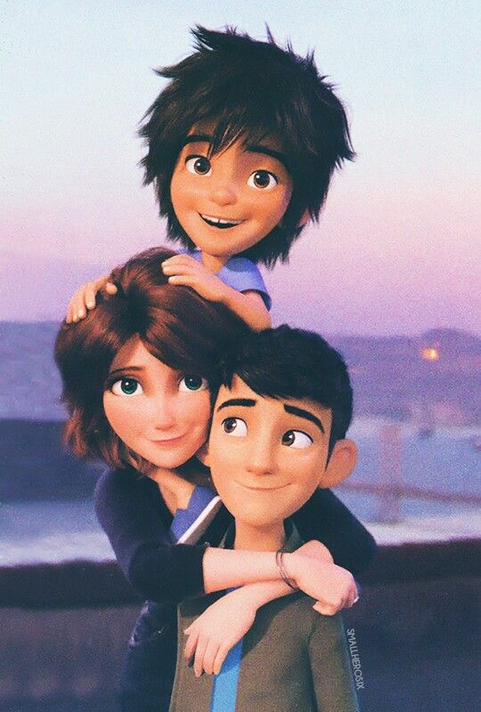 Big Hero 6 - Hiro, Aunt Cass, and Tadashi