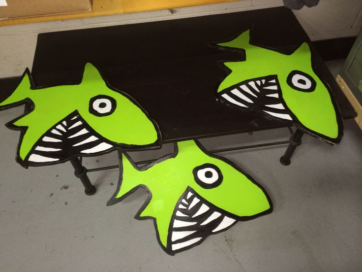 Funky Shark Signs For Big Hed Designs Hand Painted Big