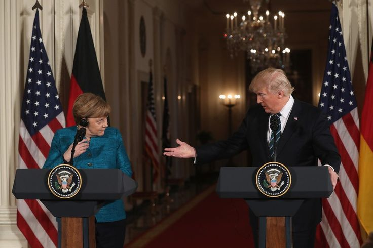 """Donald Trump continues to stun and amaze with the lengths he'll go to accuse former President Obama of wiretapping. At his press conference with German Chancellor Angela Merkel, he said that """"As far as wiretapping, I guess, by this past administration,..."""