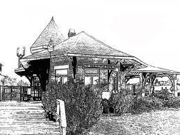 Drawing of Railway Museum in Smiths Falls