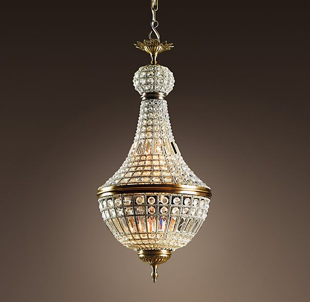 19th C. French Empire Crystal Chandelier Small $1195 & 579 best N°5 lighting thailand images on Pinterest | Pendant lights ...