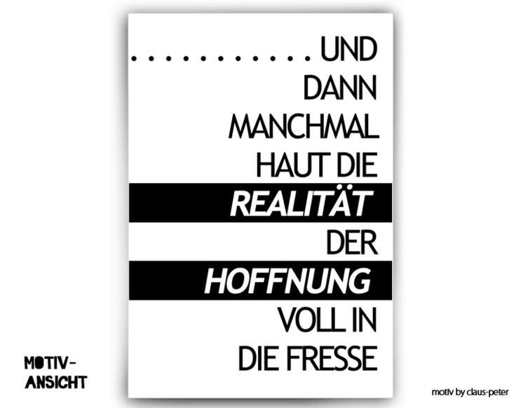彡Typo Print   realität vs. hoffnung