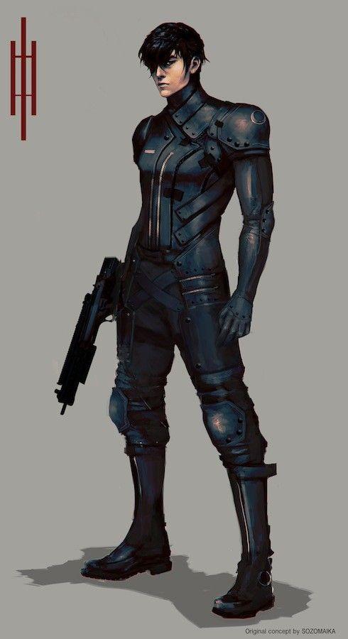 ArtStation - NEXION SOLDIER, Maika Sozo