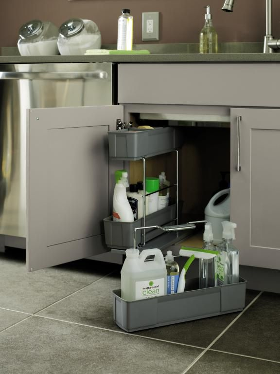 What A Timesaver Our Cleaning Caddy Stores Neatly Under The Sink And Is Easily Removable To