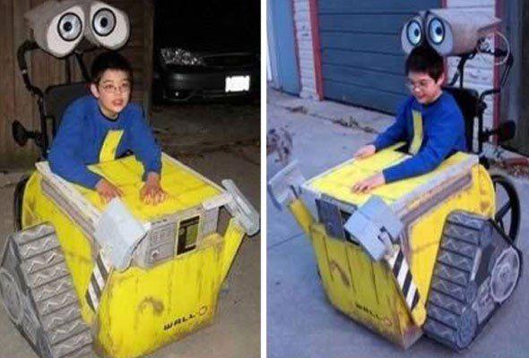 Disfraces para niños en silla de ruedas: Wall-e