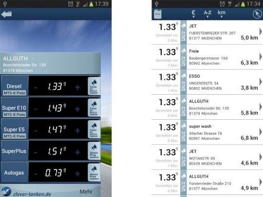 Billiger Sprit: Top 10 der offiziellen Benzinpreis-Apps bzw. -Dienste - Von Clever-Tanken, 1-2-3 Tanken bis zur ...