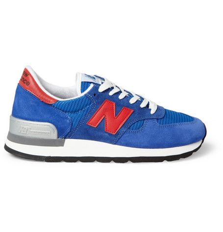 New Balance 990 Nubuck and Mesh Sneakers