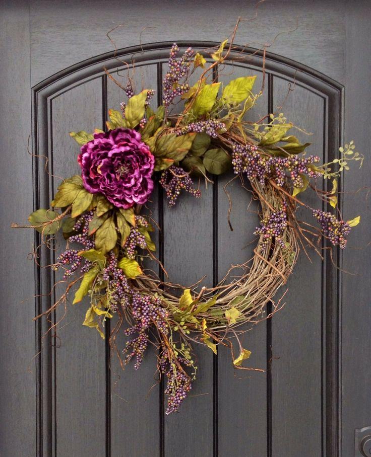 Summer+Wreath+Fall+Wreath+Berry+Twig+by+AnExtraordinaryGift,+$70.00