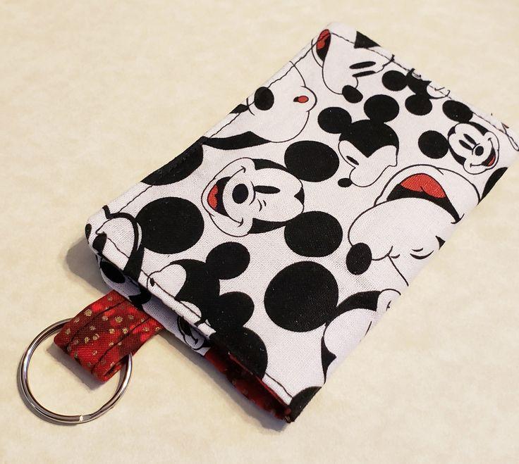 Disney mickey mouse keychain id holder mini wallet