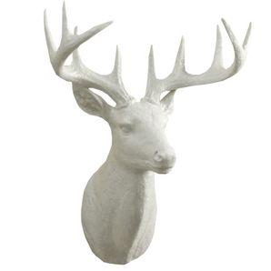 D coration murale t te de chevreuil blanche de 20 po chambre de charlie pinterest deer for Tete de chevreuil decoration