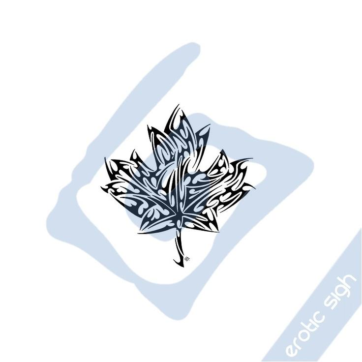 Tribal maple leaf 2
