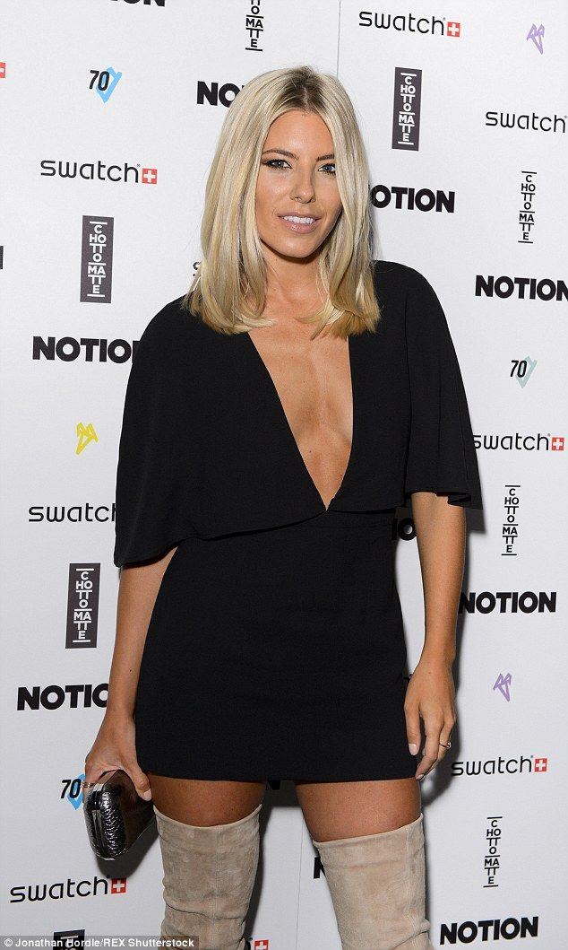 Mollie King flashes the flesh in mini dress #dailymail